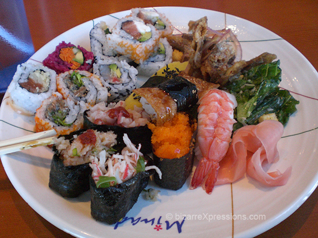 how to eat more at a sushi buffet